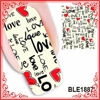 BLE1620-BLE1630 Fashion Post Stamp Nail Art Full Nail Water Decals