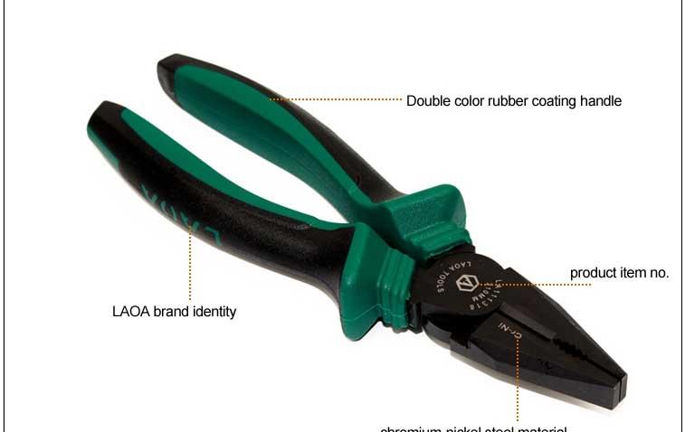 laoa 8 인치 전기 펜치은 넘쳐나 핸들 유로- 스타일의 플라이어