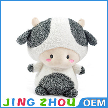 China factory creative plush cow doll for sale