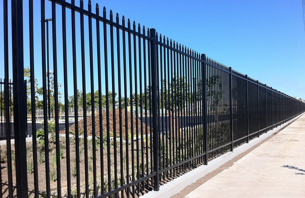 Galvanized steel fence panels metal