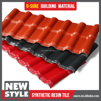 purple roof tile / excellent load-carrying ability light coatings for roofs / ASA terracotta roof tiles