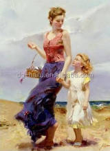 classic mother and baby oil painting