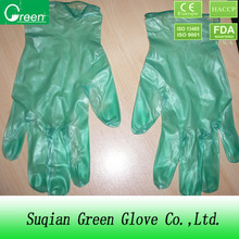 disposable green vinyl gloves/disposable vinyl examination gloves/disposable latex gloves for examination
