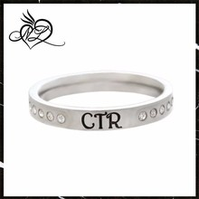 Womens Stainless Steel Twinkle CTR Choose the Right Ring for Girls - LDS Rings, Womens CTR Rings, Girls CTR Rings
