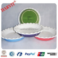 Ceramic Products Heat Resistant Materials Round Baking Tray Color Glazed Bakeware