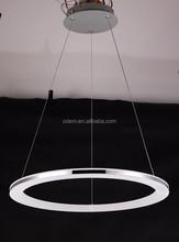 Best Seller LED Acrylic Ring Chandelier Lamp Modern LED Circle Pendant Lamp