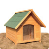 Hot Sale Wooden Dog Kennel With Apex Roof DFD009