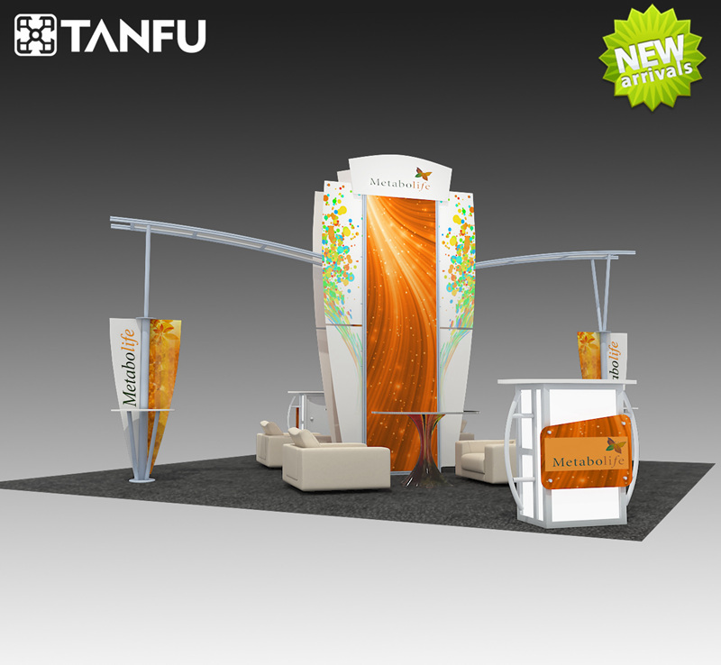 Exhibition Booth En Espanol : Or exhibition booth stand with island style for