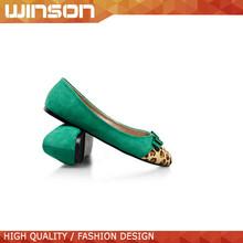 Alta calidad verde leopard impreso plana zapatos para mujeres