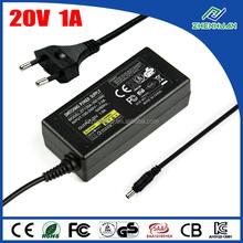AC/DC adaptor 20V 1A power adapter 100 240V 50 60 Hz