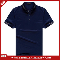 Latest style button down collar navy blue polo shirts for men