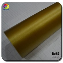 TSAUTOP RoHS Certification Self Adhesive Gold Brushed Car Vinyl for Car Body Wraps Stickers