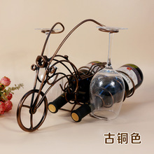 New starter motor chariot hanging cup wine rack wrought iron wine racks metal crafts ornaments patented product
