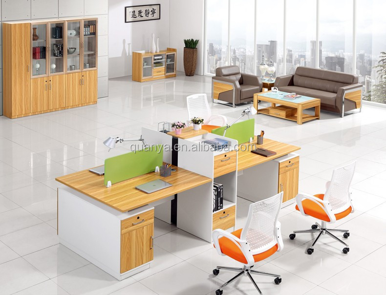 Modern Wooden Partition Workstation Office Table Furniture Buy Partition Wo