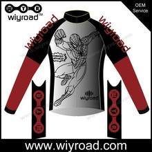 OEM&pro cycling jersey fleece fabric/bicycle jacket for winter/long sleeves sublimation cycling jersey
