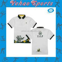 Cheap dry fit uniform polo shirt custom made for school