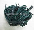 Hadas luz de la secuencia 100leds 10m conducido con cables verdes