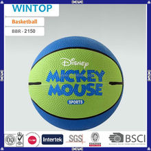 made in china colorful good quality new design big rubber basketball ball