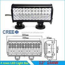 Four-row New Style LED Off-road Light bar Flood/Spot Beam Working Light Bar 144W Offroad LED Light Bar 4WD ATV 4x4 SUV UTV 4 Row