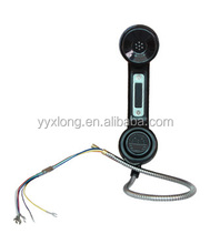 Promotional economical price flame retardant IP65 corded telephone handset A15