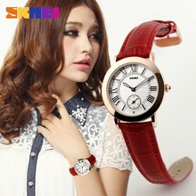 china supplier water resistant leather watch for ladies