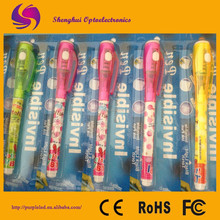 UV LED promotional pen with led light invisible ink pen