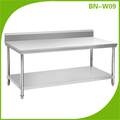 Cosbao stainless steel kitchen work table/ restaurant table (BN-W09)
