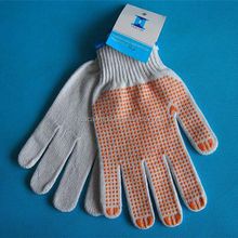 China pvc dotted cotton gloves