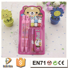 New fashion Korean cartoon style Mechanical pencil stationery set/