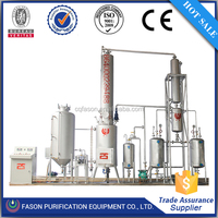 Environmental protection 20tons per day used engine oil recycling to NO.5 diesel fuel oil machine