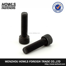 Good quality high strength/ intensity/ tensile black grade Gr12.9,GR10.9/GR8.8 DIN912 allen bolt with/without knurling