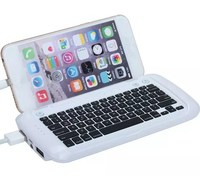 For iphone 6 and iphone 6 Plus Protable Mini Silicone Charging Bluetooth Keyboard