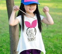 d60018h 2015 Summer popular children Pure cotton short sleeves girl T-shirts