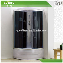 Queen-bath JR-T5650 modern design stainless steel shower enclosure with nickel brushed shower door