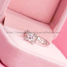 china wholesale brand design 925 sterling silver 3 carat ring