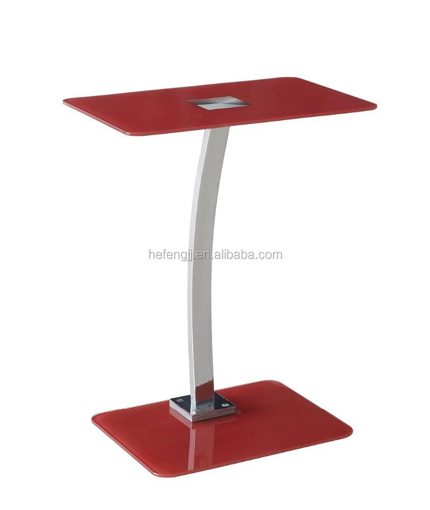 Top vente en verre tremp table d 39 ordinateur portable - Table basse ordinateur ...