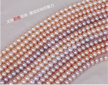 "natural freshwater pearl 100"" necklace with different color."