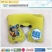 Children Comfort microbead pillow, animal shaped Neck Pillow, U-shape Inflatable Travel Pillow