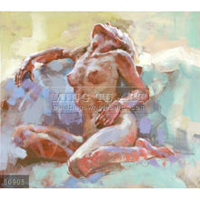Handmade famous nude paintings oils on canvas, Polish Expressive figurative painter