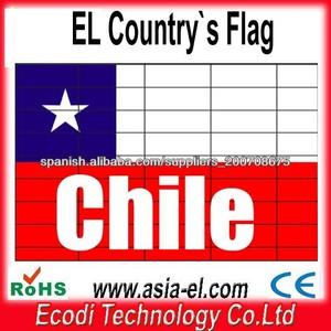 Más calientes! El más reciente! Chile Bandera del panel ligera del EL para la camiseta