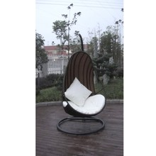 Outdoor/indoor poly rattan furniture swing chair