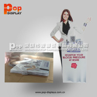 customized printing cardboard standee display for cosmetic products