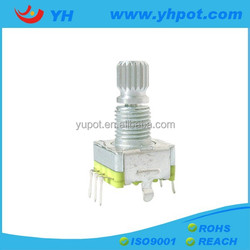 YH EC11mm low cost with switch 15 pulse 30 position incremental rotary encoder