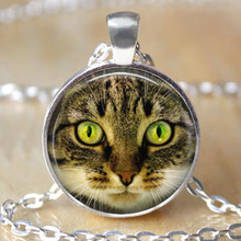fashion jewelry rinstone chain necklace with cat picture