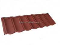 2015 beijing low cost steel roofing tile mixed color stone coated tile corrugated metal roofing tile