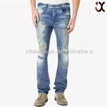 2015 brand pants new design boot cut ripped jeans men JXQ301