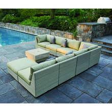 2015 Fashion forward wicker rattan Swimming Pool Side octagon patio furniture