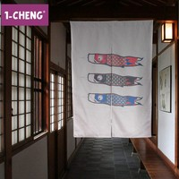 Japanese Carp Flags Style Curtain Home Decorative Door Curtain Cool Hangings Portiere