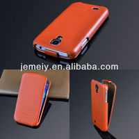 Real genuine flip leather case for samsung galaxy s4 i9500