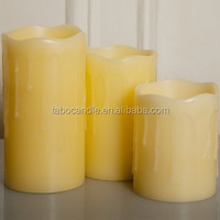 2015 Home Decoration 3PCS/Set Electronic Wax Led Candle Light Flamless LED Wax Candle